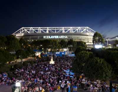 MELBOURNE, AUSTRALIA - JANUARY 20, 2011: Outside Rod Laver Arena during the 99th staging of the Australian Open (Photo by Scott Clarke / ESPN) - RAW FILE AVAILABLE -.- CMI000158715.jpg -