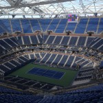 Pic - US Open - Ashe empty with roof girders