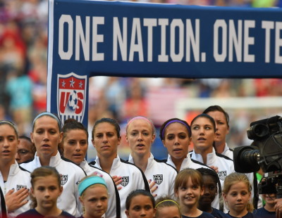 Harrison, N.J. - May 30, 2015 - Red Bull Arena: The United States Women's National Soccer Team during an international friendly match (Photo by Joe Faraoni / ESPN Images)