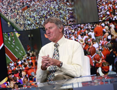 Bristol, CT - July 21, 2015 - Studio X: Steve Spurrier on the set of SportsCenter (Photo by Allen Kee / ESPN Images)