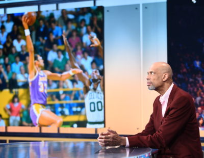 Bristol, CT - October 29, 2015 - Studio X: Kareem Abdul-Jabbar on the set of SportsCenter (Photo by Joe Faraoni / ESPN Images)