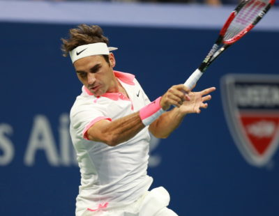 Queens, NY - September 13, 2015 - USTA Billie Jean King National Tennis Center: Roger Federer competing in the Menâs finals during the 135th staging of the US Open (Photo by Allen Kee / ESPN Images)