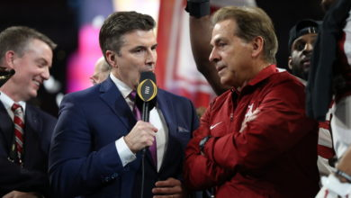 CFP National Championship, Rece Davis and Nick Saban