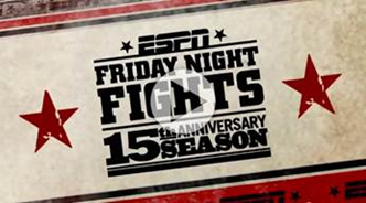 Friday Night Fights 15th Anniversary logo
