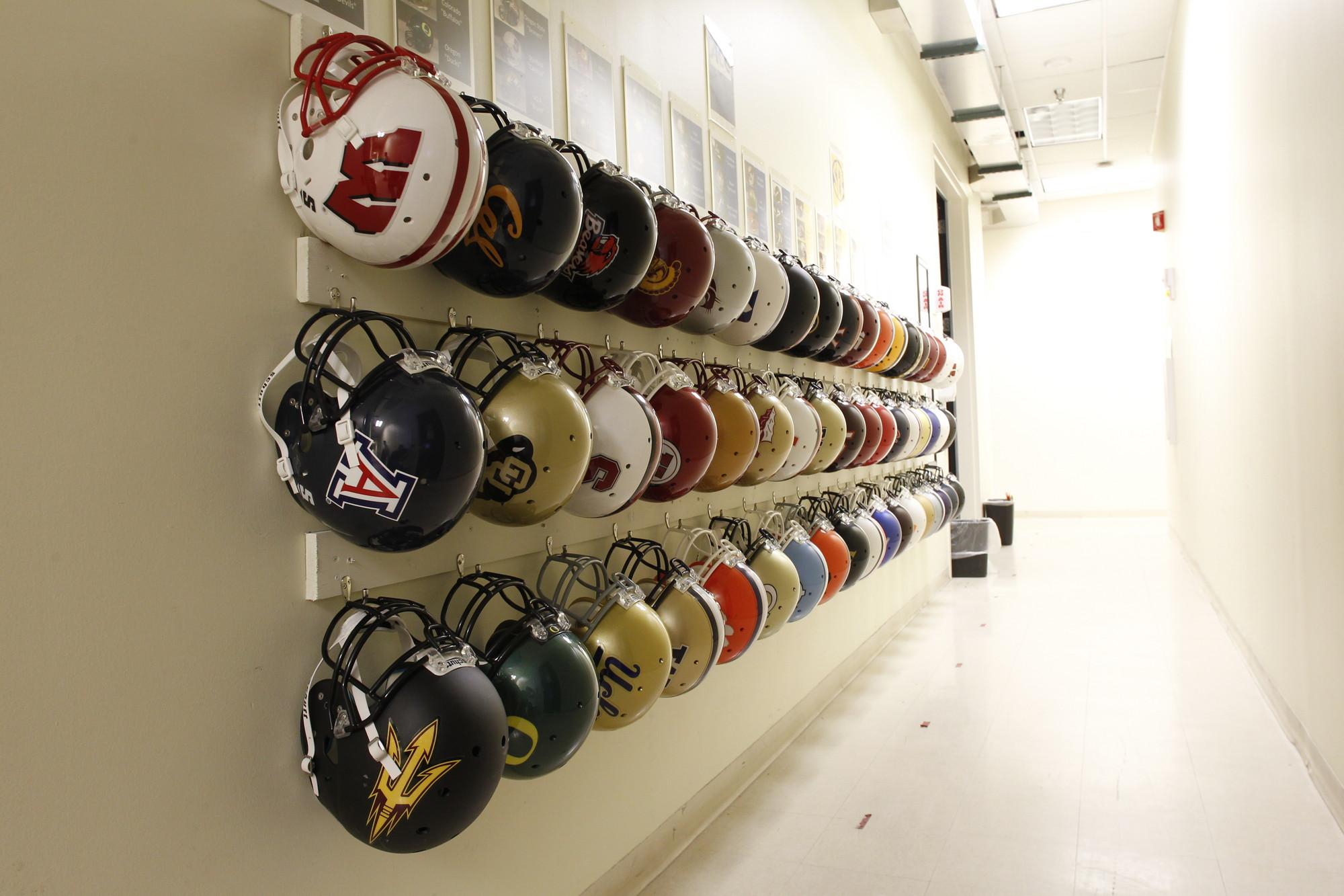 College football helmets - July 11, 2013