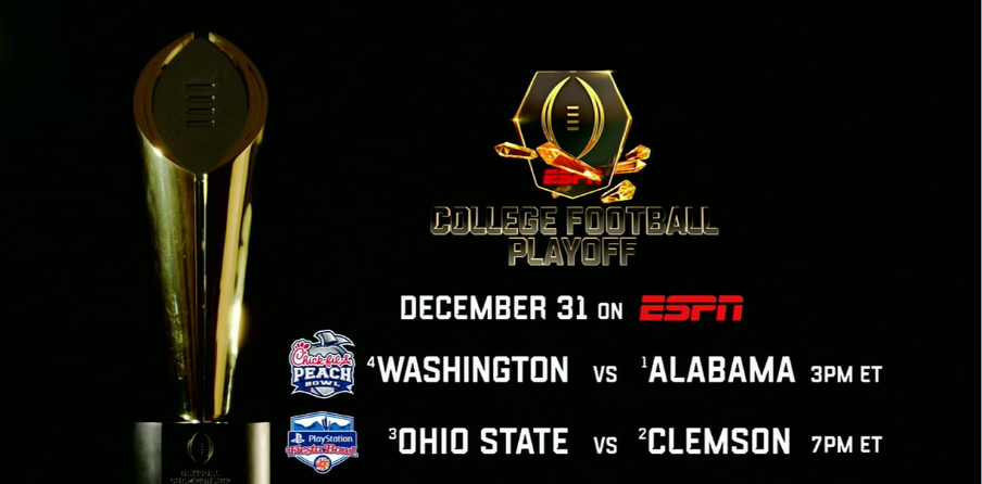 College Football Playoff Featuring Alabama Clemson Ohio State And