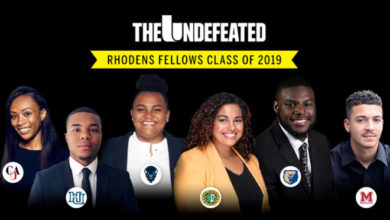 The Undefeated Rhodens Fellows 2019