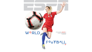 Photo of Julie Ertz Featured on Cover of ESPN The Magazine's World Football Issue