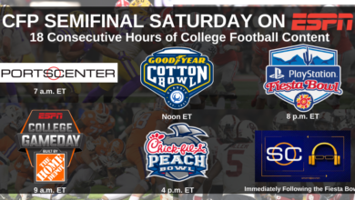 Photo of ESPN Presents 18 Consecutive Hours of Coverage on College Football Playoff Semifinal Saturday