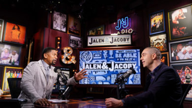 Photo of ESPN's Jalen & Jacoby Live Podcast on Tuesday, April 21 at the Gramercy Theatre in New York City