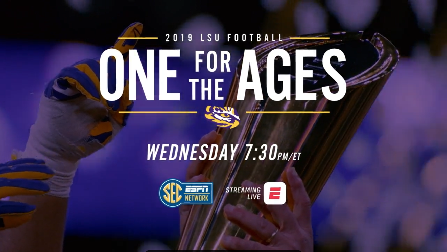 One For The Ages The Story Of Lsu Football S Exceptional National Championship Season Premieres Wednesday May 13 Espn Press Room U S