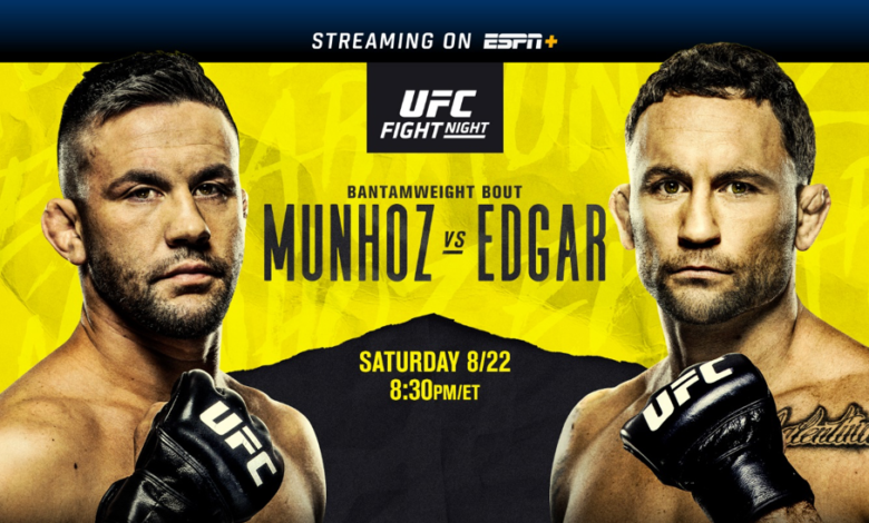 Watch UFC Fight Night Munhoz vs. Edgar 8/22/20