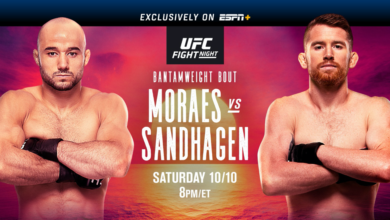 Photo of UFC Fight Night on ESPN+: Moraes vs. Sandhagen October 10 Exclusively on ESPN+