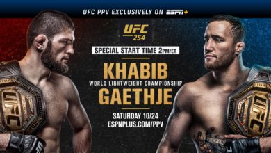 Photo of UFC 254: Khabib vs. Gaethje Pits Champ vs. Champ in Highly-Anticipated Lightweight Championship exclusively on ESPN+, ESPN2 and ESPN Deportes