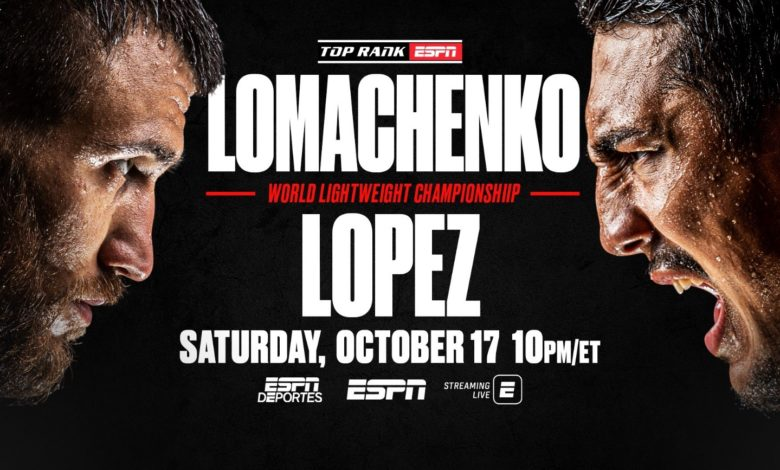 ESPN Offers Extensive Lomachenko vs. Lopez Fight Week Programming - ESPN  Press Room U.S.