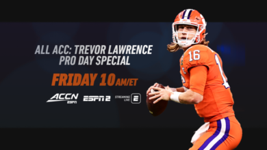 Photo of All ACC: Trevor Lawrence Pro Day Special to Air Friday on ACC Network and Simulcast on ESPN2