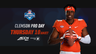 Photo of Clemson Pro Day on Thursday Kicks Off ACC Network's Coverage of ACC Football Pro Days