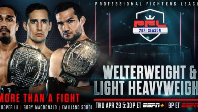 Photo of Professional Fighters League Returns to ESPN Networks and Streaming Plat-forms for Second Event of the Season on April 29