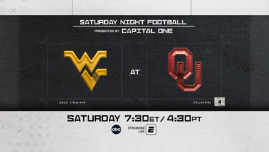 Photo of Nearly a Dozen Ranked Teams Slated for ESPN Networks, West Virginia at No. 4 Oklahoma Featured on ABC's Saturday Night Football