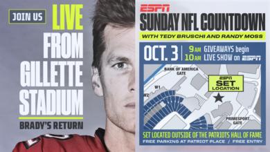 Photo of ESPN's Sunday NFL Countdown to Originate from Gillette Stadium for Tom Brady's Return