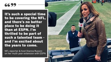 Photo of ESPN Signs Top NFL Reporter and Host Dianna Russinito Multi-Year Extension